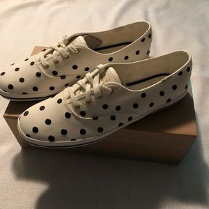 Kate Spade Black/White Dots Sneakers NIB